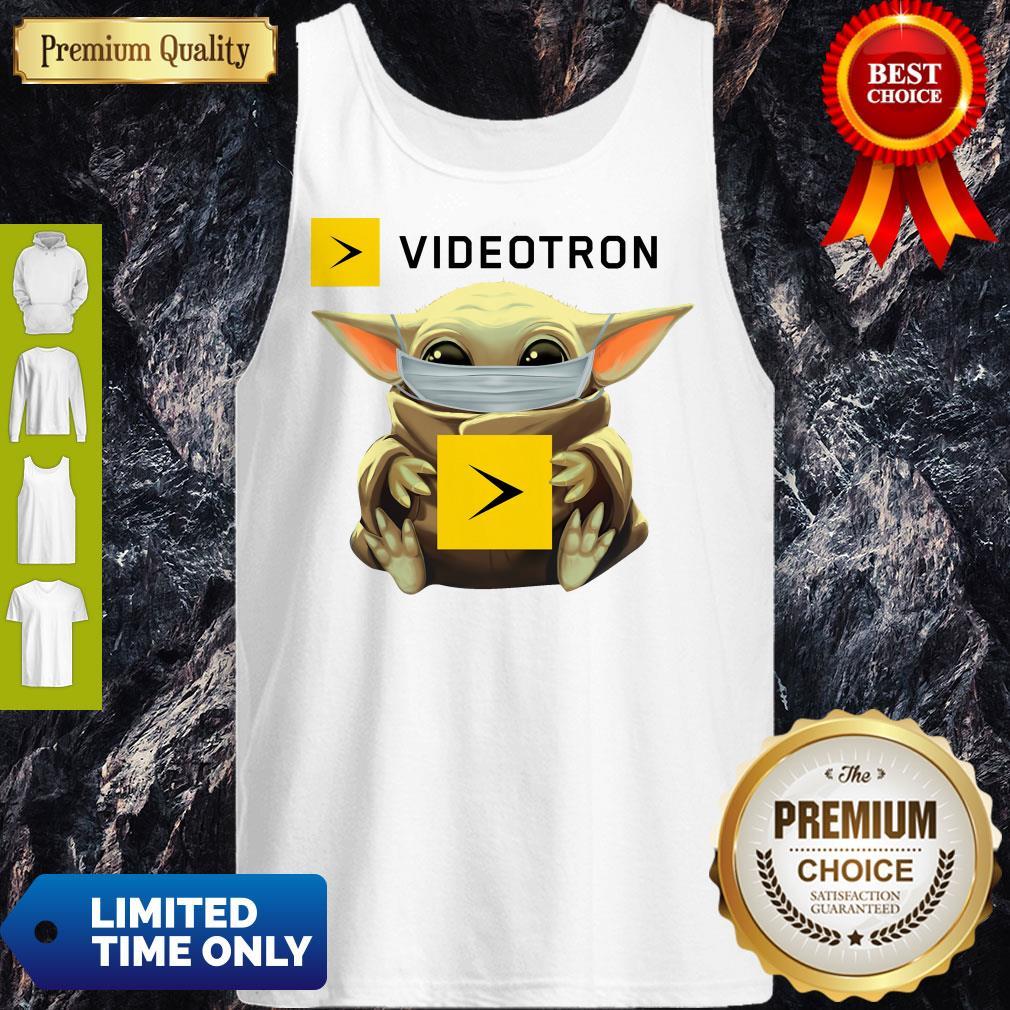 Star Wars Baby Yoda Hug Videotron Mask Covid 19 T-Tank Top