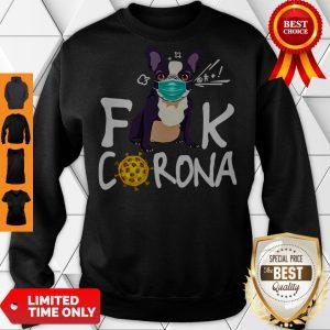 Premium French Bulldog Face Mask Fuck Corona Sweatshirt