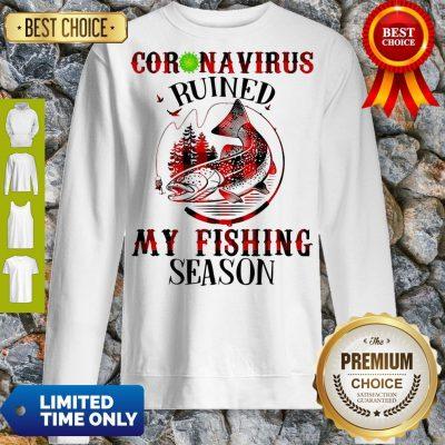 Official Coronavirus Ruined My Fishing Season Covid-19 Sweatshirt