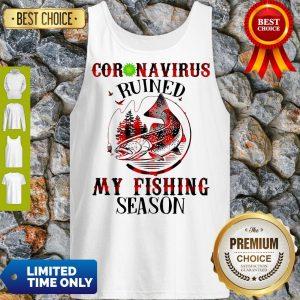 Official Coronavirus Ruined My Fishing Season Covid-19 Tank Top