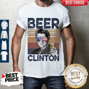 Top Bill Clinton Drink Beer The 4th Of July Vintage Shirt