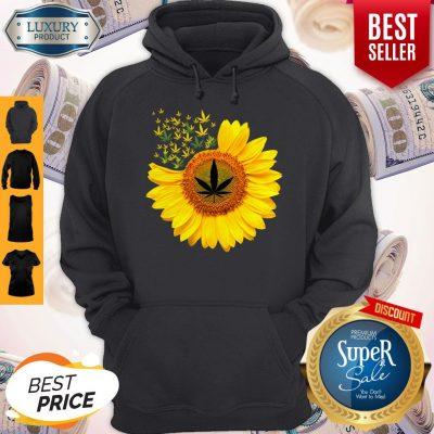 Top Canabis Weed Sunflower Hoodie