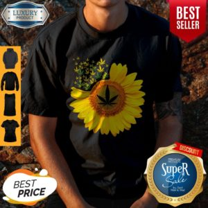 Top Canabis Weed Sunflower Shirt