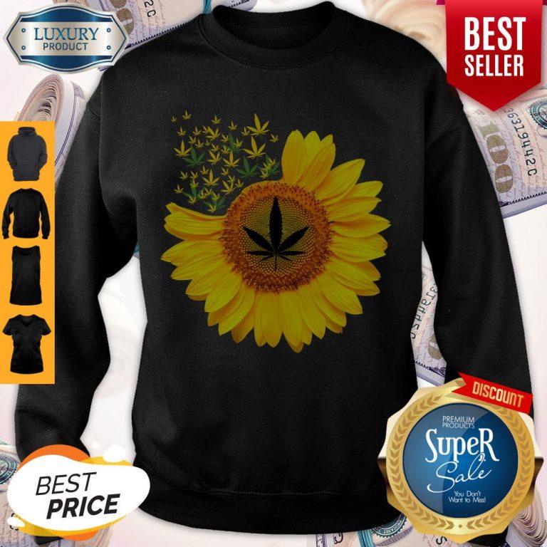 Top Canabis Weed Sunflower Sweatshirt