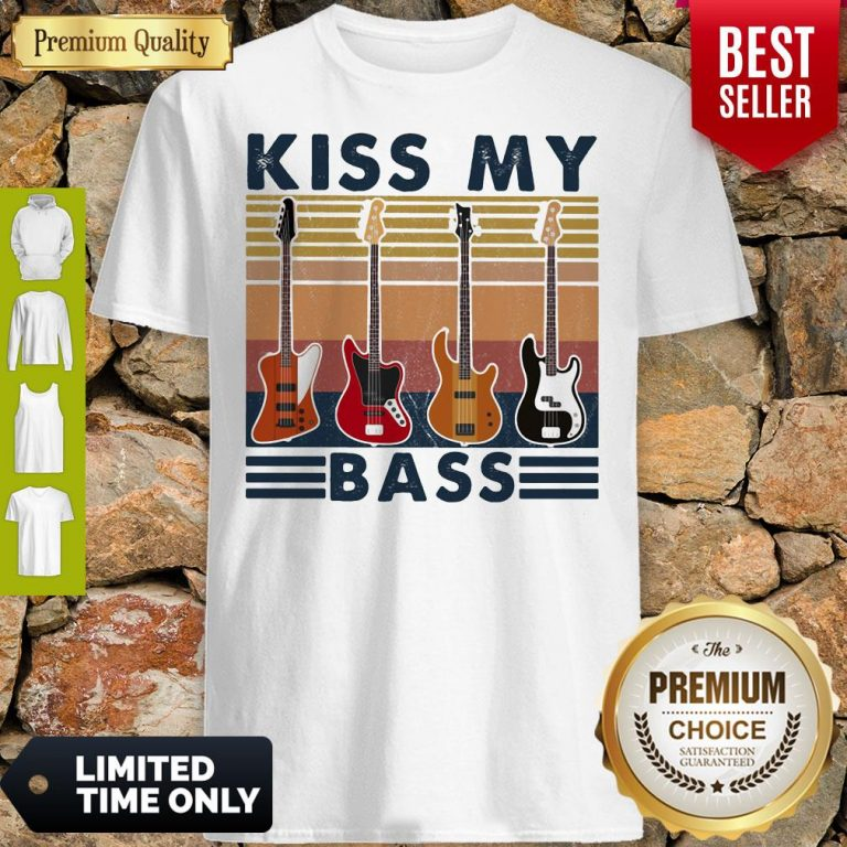 Top Kiss My Bass Guitar Vintage Shirt
