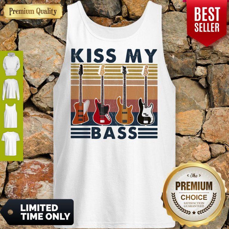 Top Kiss My Bass Guitar Vintage Tank Top