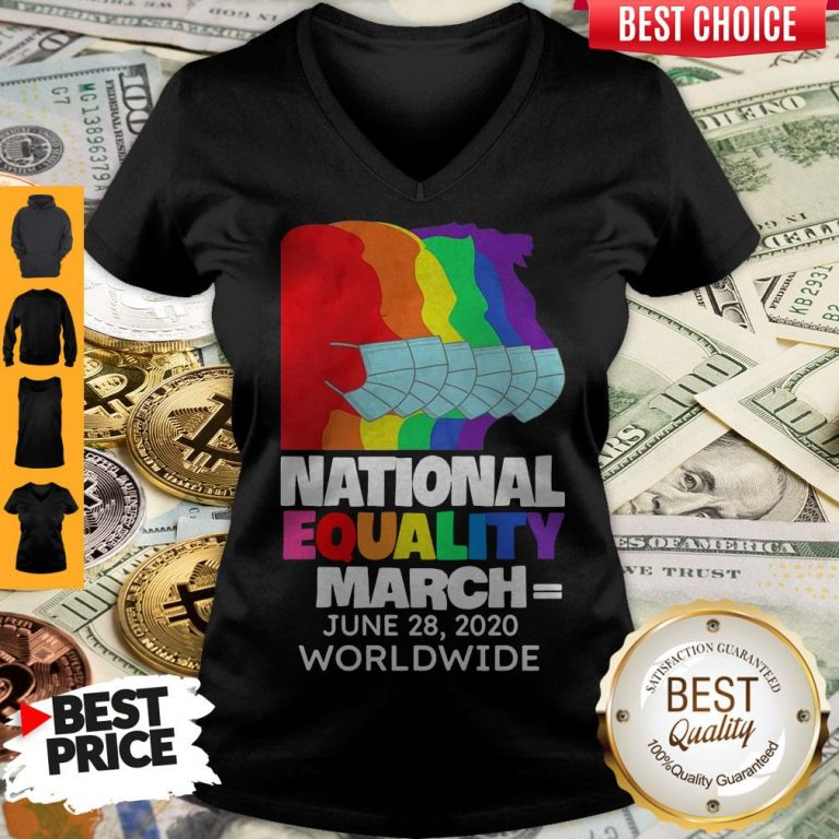 Top National Equality March June 28 2020 Worldwide V-neck