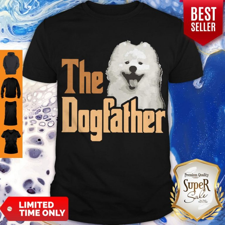 Top Samoyed The Dogfather Father's Day Shirt