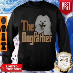 Top Samoyed The Dogfather Father's Day Sweatshirt