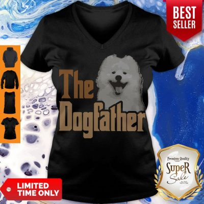Top Samoyed The Dogfather Father's Day V-neck