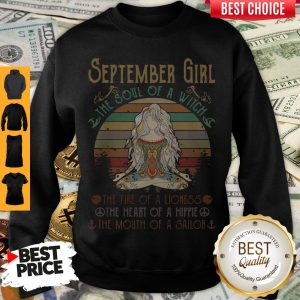 Top Vintage Yoga September Girl The Soul Of The Witch Sweatshirt