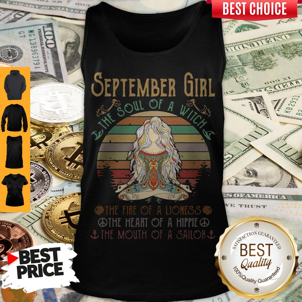 Top Vintage Yoga September Girl The Soul Of The Witch Tank Top