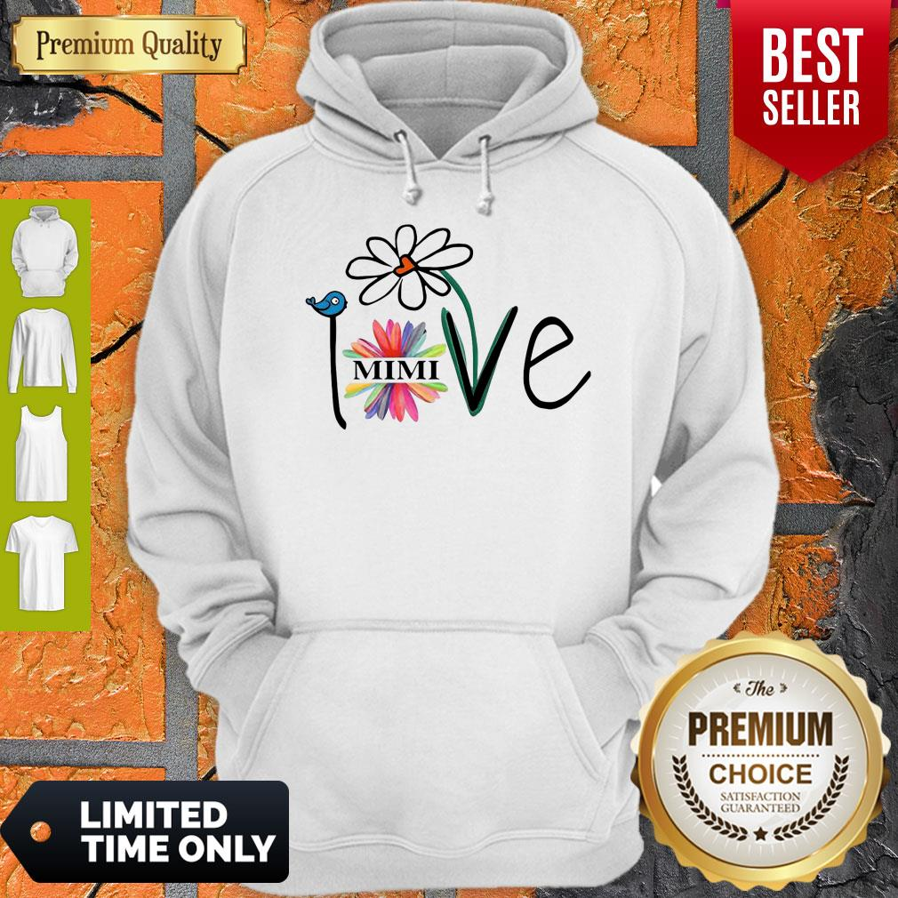 Top Woman Mom Love Mimi Life Heart Floral Gift Hoodie