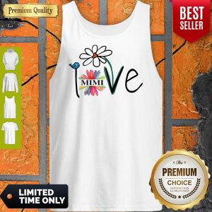 Top Woman Mom Love Mimi Life Heart Floral Gift Tank Top