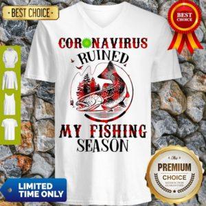 Official Coronavirus Ruined My Fishing Season Covid-19 V-neck