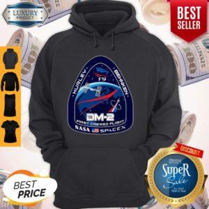 Top NASA SpaceX DM-2 First Crewed Flight Hoodie