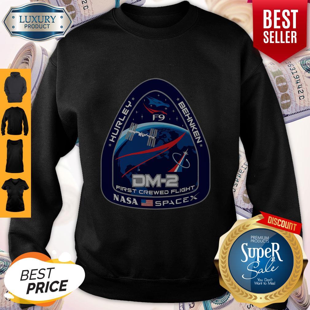 Top NASA SpaceX DM-2 First Crewed Flight Sweatshirt