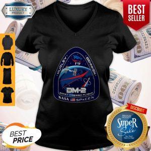 Top NASA SpaceX DM-2 First Crewed Flight V-neck