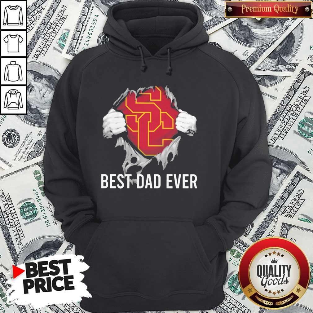 Awesome Blood Inside Me USC Trojans Football Best Dad Ever Hoodie