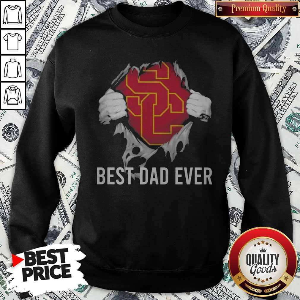 Awesome Blood Inside Me USC Trojans Football Best Dad Ever Sweatshirt
