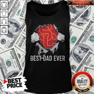 Awesome Blood Inside Me USC Trojans Football Best Dad Ever Tank Top