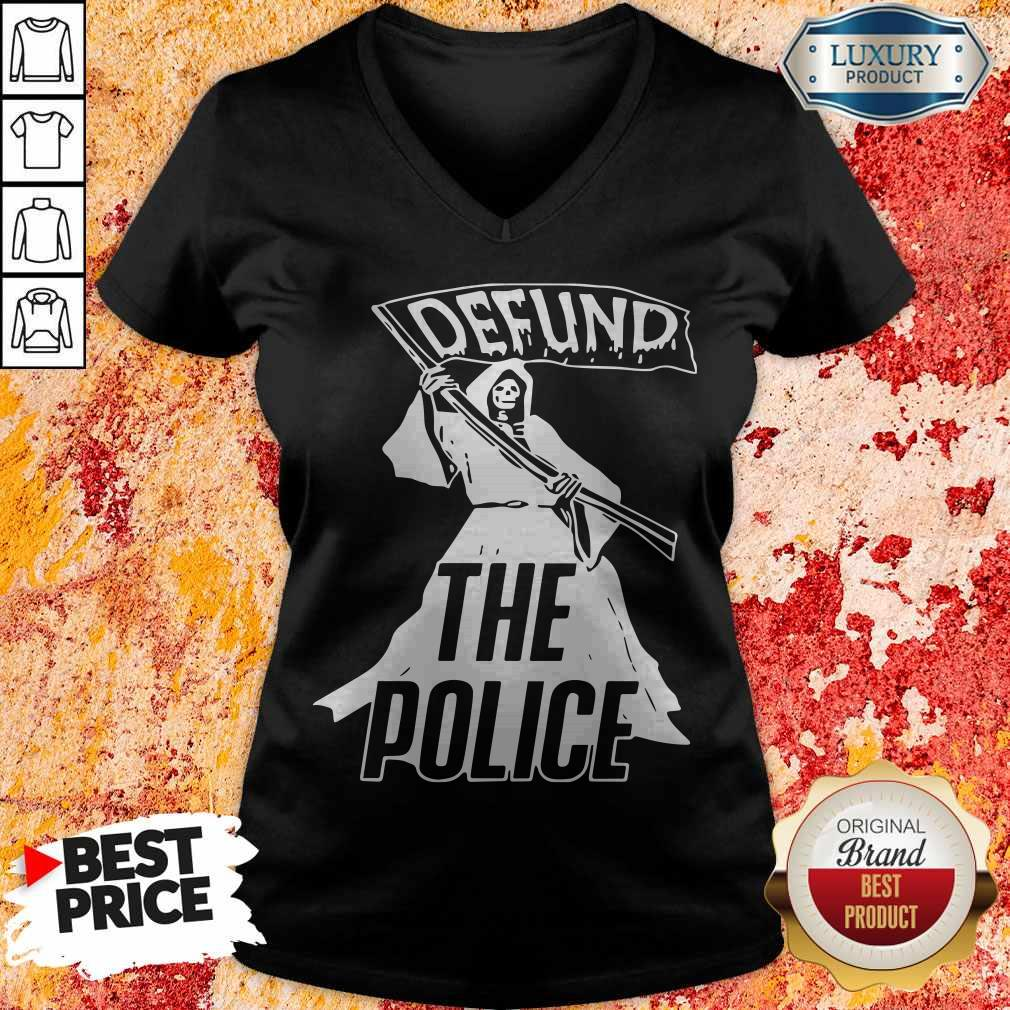 Awesome Death Defund The Police V-neck