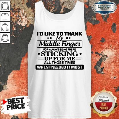 Awesome I'd Like To Thank My Middle Finger Tank Top