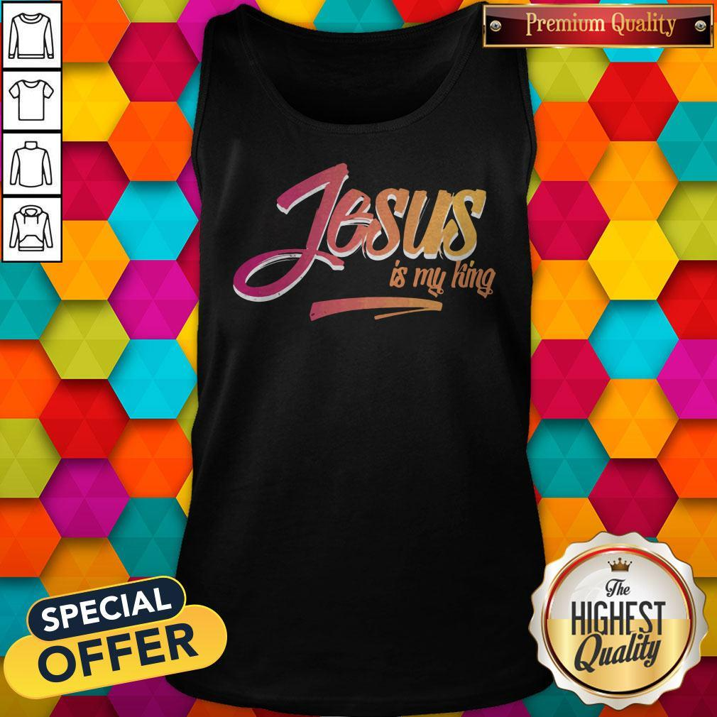 Awesome Jesus Is My King Tank Top