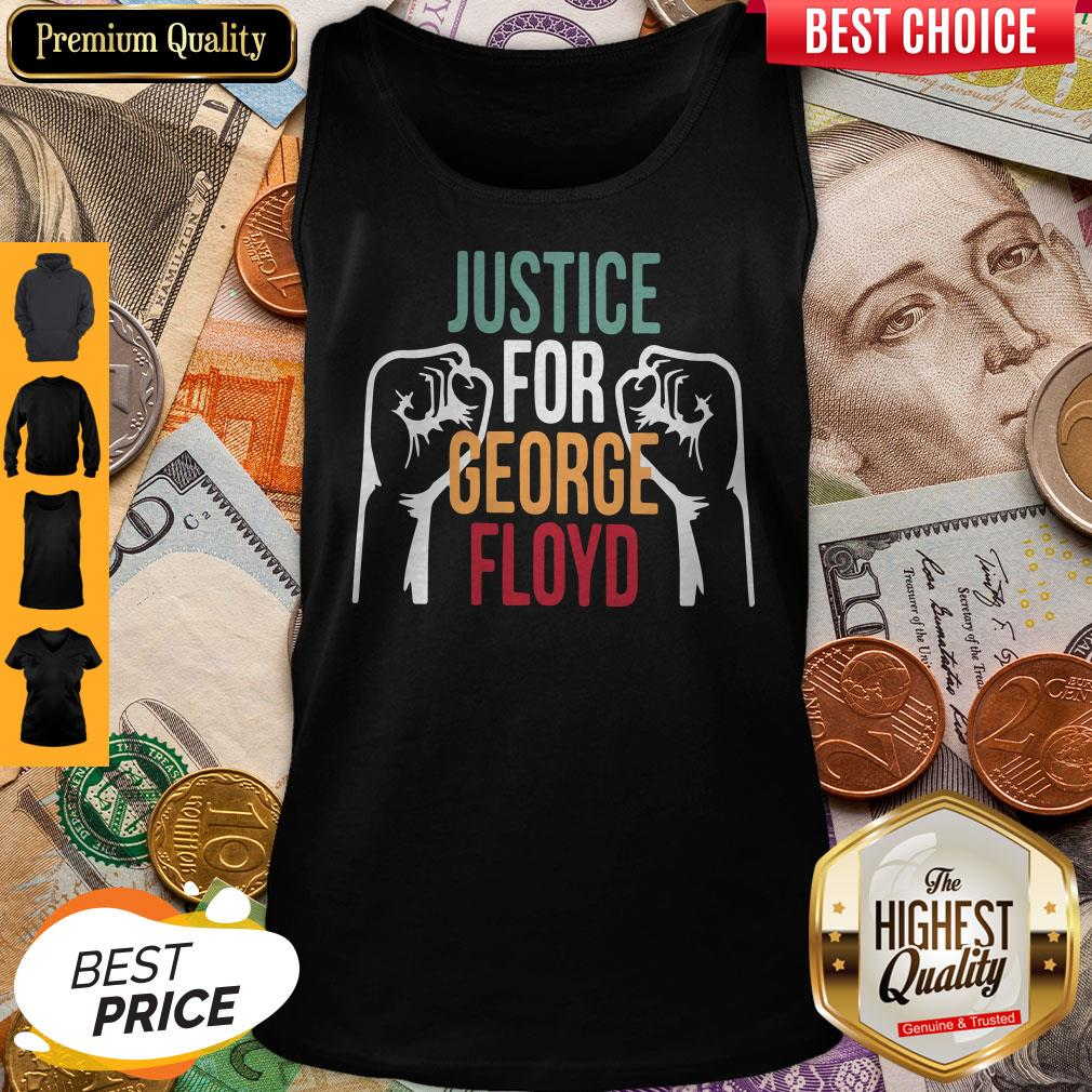 Awesome Justice For George Floyd Tank Top