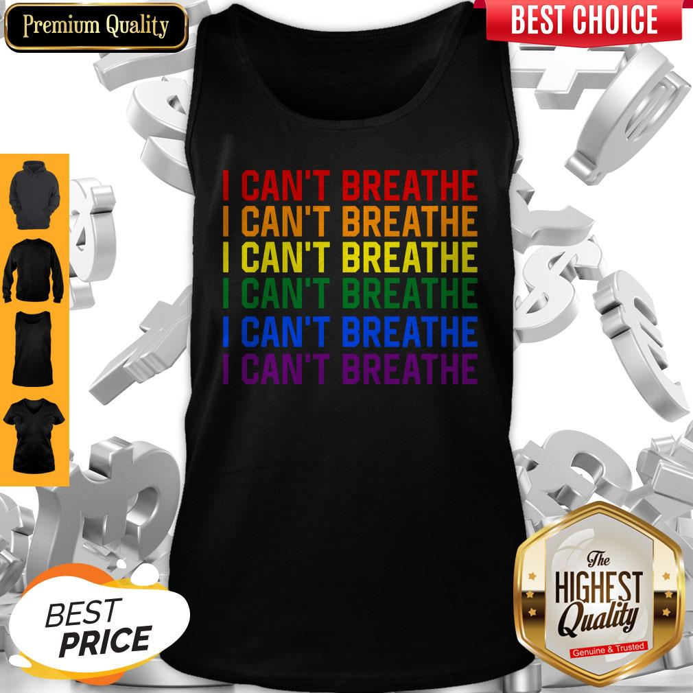 Awesome LGBT I Can't Breathe Tank Top