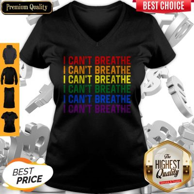 Awesome LGBT I Can't Breathe V-neck