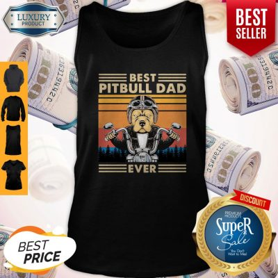 Awesome Motorcycle Best Pitbull Dad Ever Vintage Tank Top