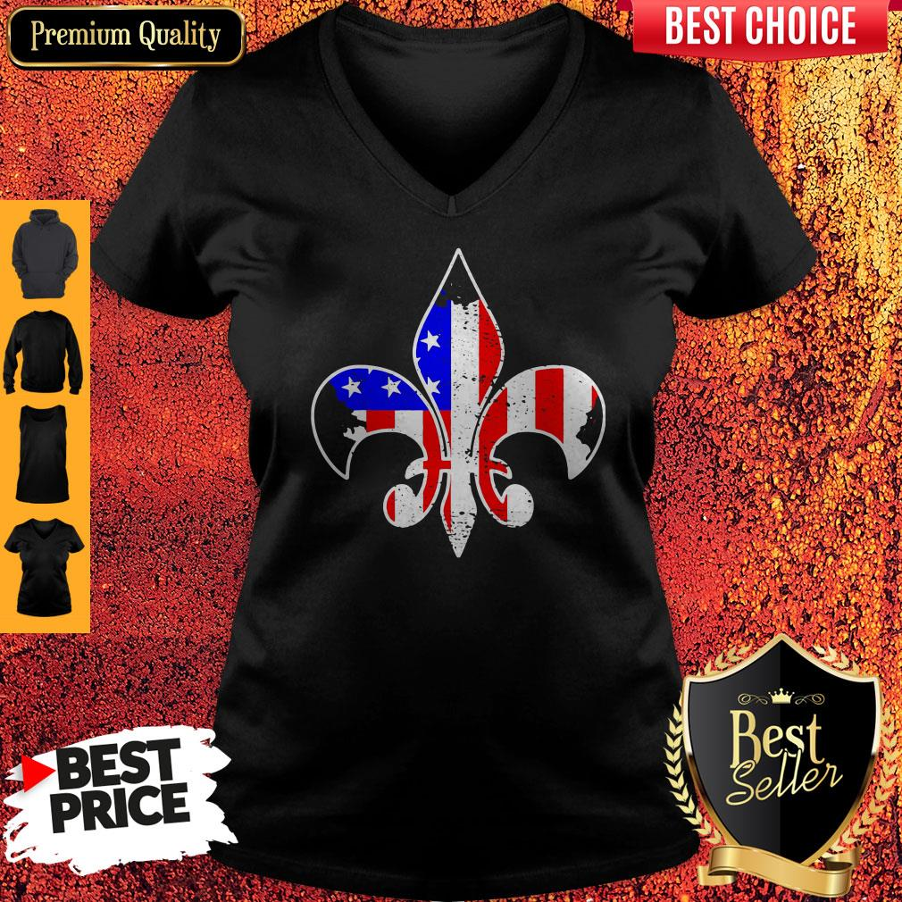Awesome Scouting American Flag Independence Day V-neck