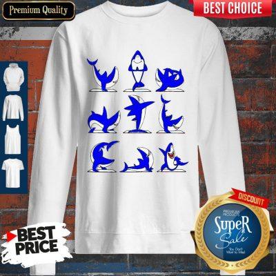 Awesome Shark Yoga Sweatshirt