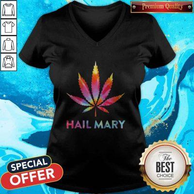 Awesome Weed Hail Mary V-neck