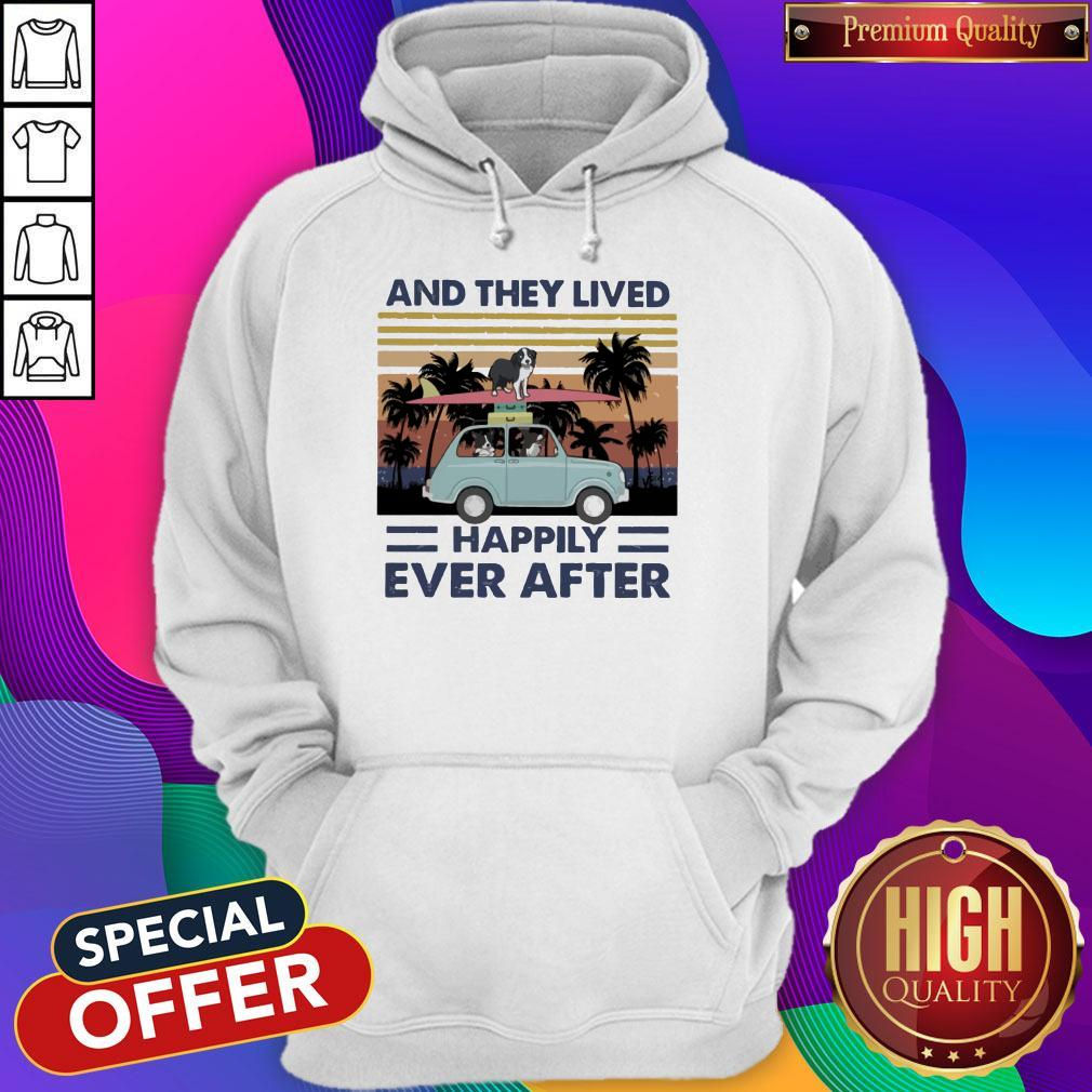 Funny And They Lived Happily Ever After Vintage Hoodie