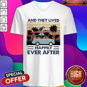 Funny And They Lived Happily Ever After Vintage V-neck