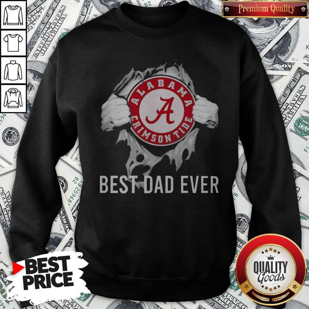 Funny Blood Inside Me Alabama Crimson Tide Football Best Dad Ever Sweatshirt