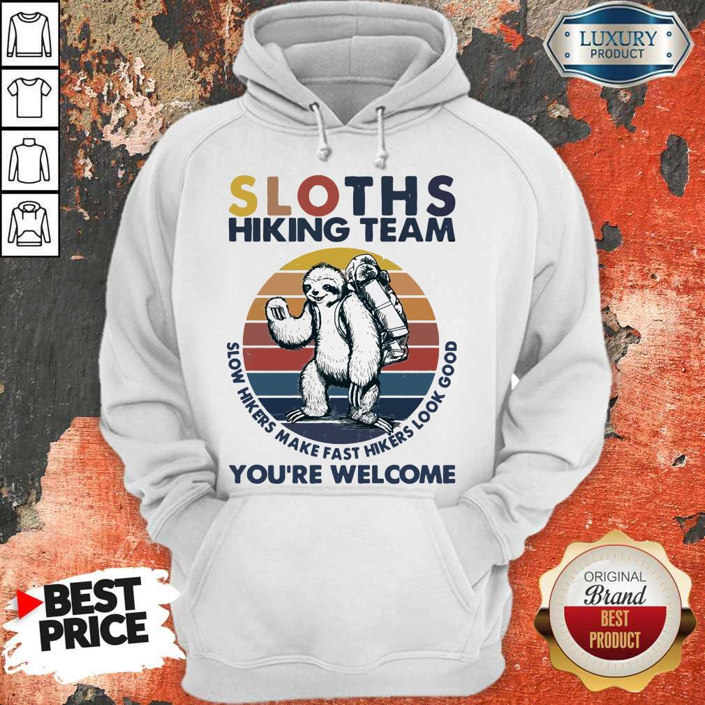 Funny Hiking Sloths Hiking Team You Welcome Vintage Hoodie