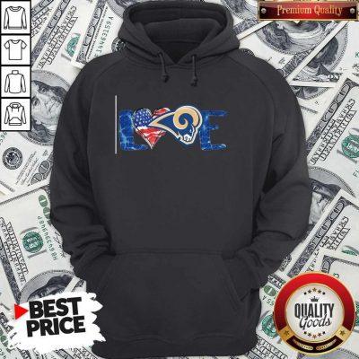Funny I Love Los Angeles Rams American Hoodie