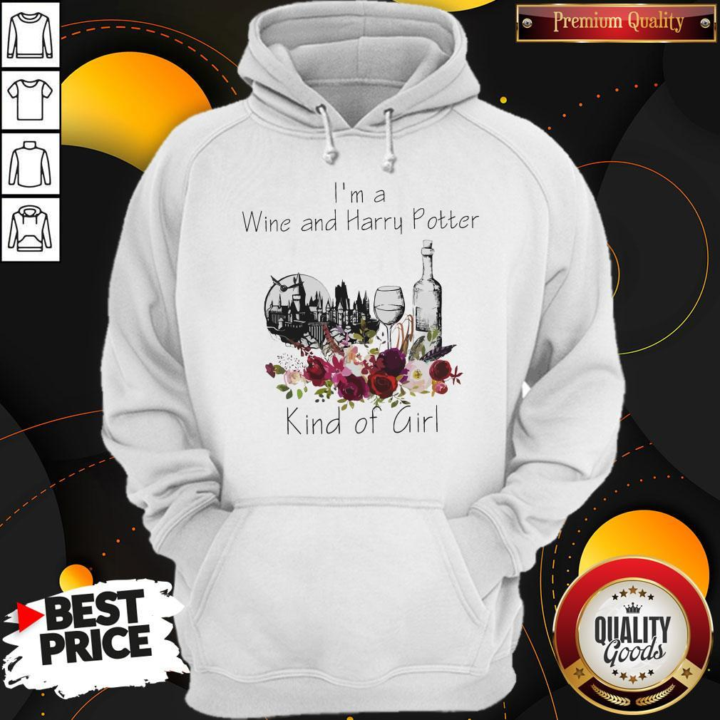 Funny I'm A Wine And Harry Potter Kind Of Girl Hoodie