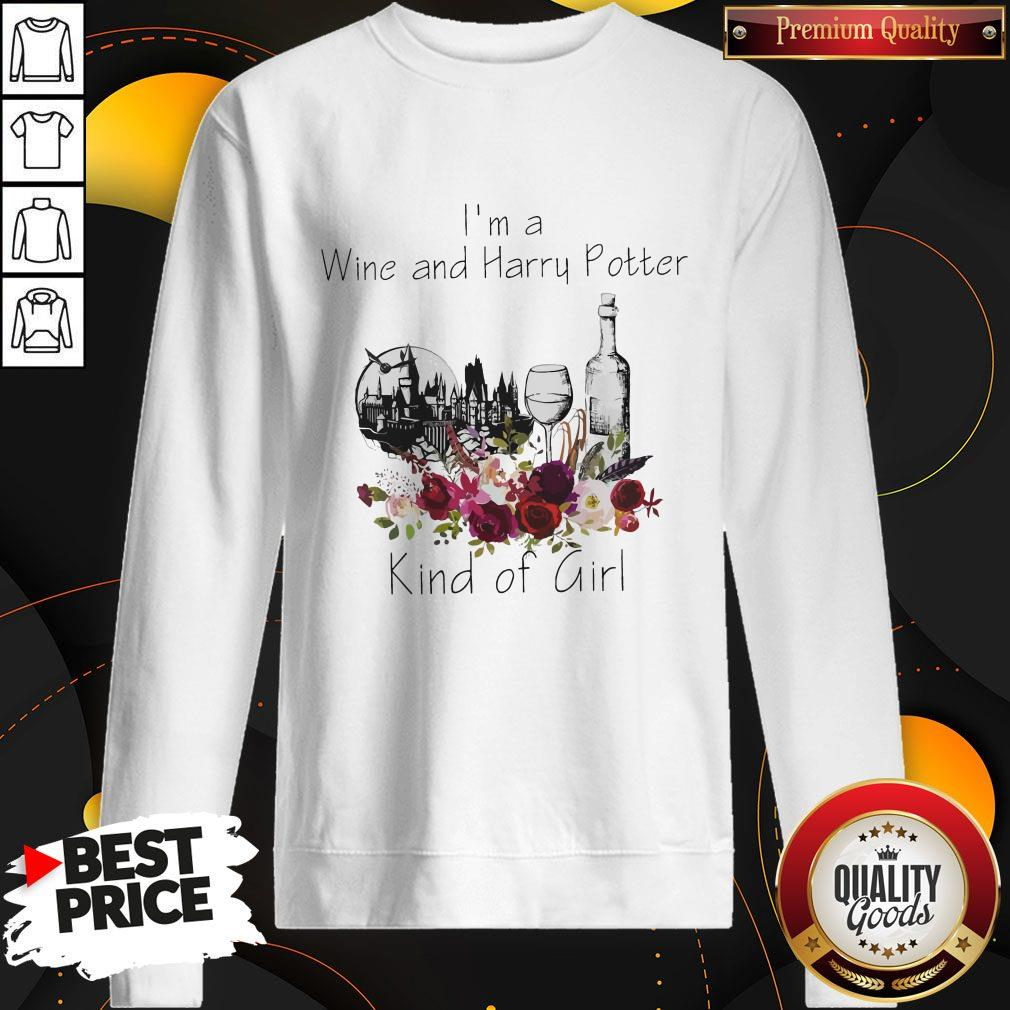 Funny I'm A Wine And Harry Potter Kind Of Girl Sweatshirt