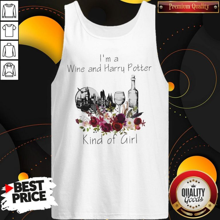 Funny I'm A Wine And Harry Potter Kind Of Girl Tank Top