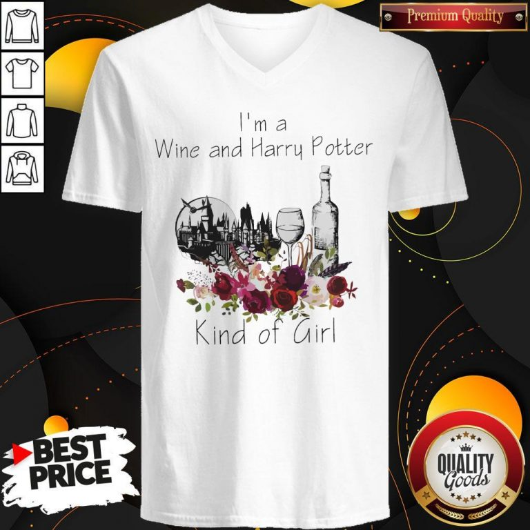 Funny I'm A Wine And Harry Potter Kind Of Girl V-neck