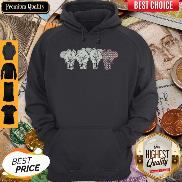 Funny It's Ok To Be A Little Different LGBT Elephant Pride Hoodie