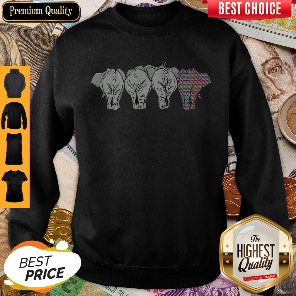 Funny It's Ok To Be A Little Different LGBT Elephant Pride Sweatshirt