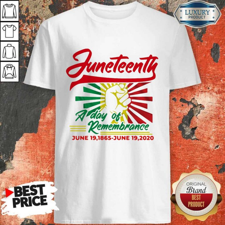 Funny Juneteenth A Day Of Rememberance Shirt