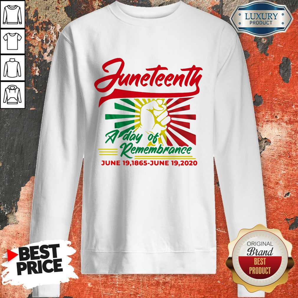 Funny Juneteenth A Day Of Rememberance Sweatshirt