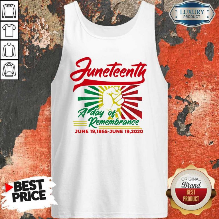 Funny Juneteenth A Day Of Rememberance Tank Top