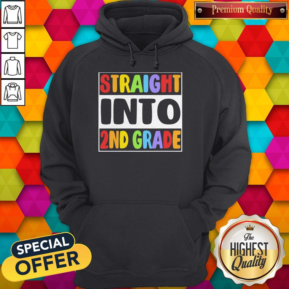 Funny LGBT Straight Into 2nd Grade Hoodie